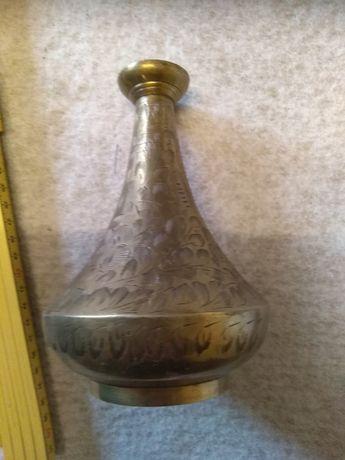 Mosiężny wazon starocie i antyki