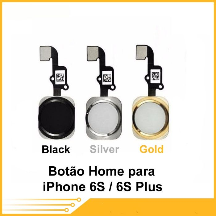 Botão Home para iPhone 5G/ 5S/ SE / 6G / 6Plus /6S / 6S Plus