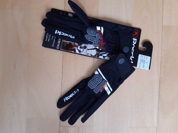 Rękawiczki dziecięce jeździeckie Roeckl, rozmiar 4, nowe