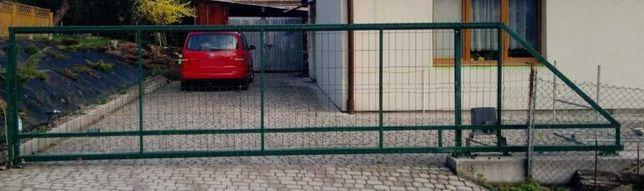 Brama wjazdowa przesuwna ocynkowana 1,5x7m światło 5m