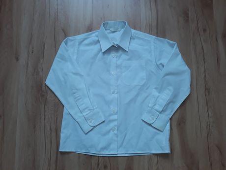Biała, wizytowa koszula dla 6-7 letniego chłopca w rozm. 122