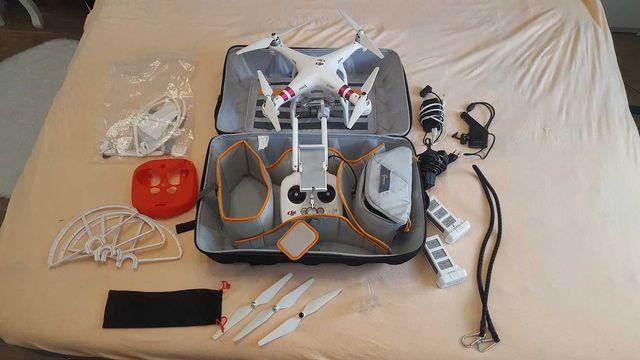 DRON DJI Phantom 3 Advanced MEGA ZESTAW + 2 baterie + plecak