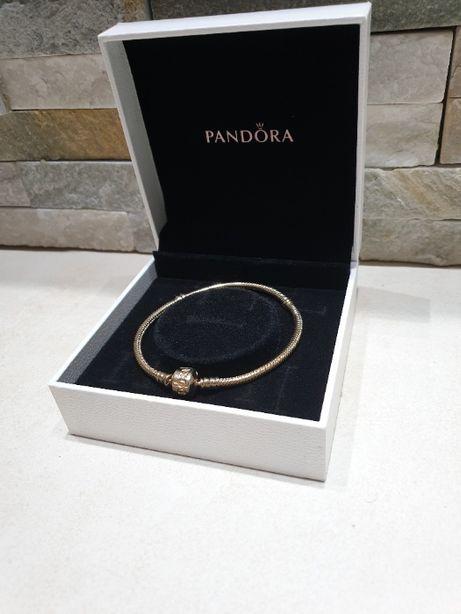 Bransoletka Pandora - złota 585 14k rozmiar 19 i 20