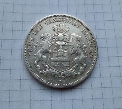 5 марок 1891 Гамбург