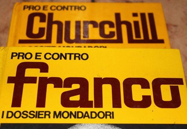 dwie książki po włosku CHURCHIL i FRANCO