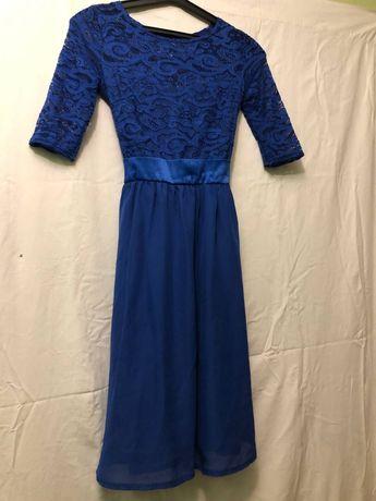 Сукня випускна, синього кольору