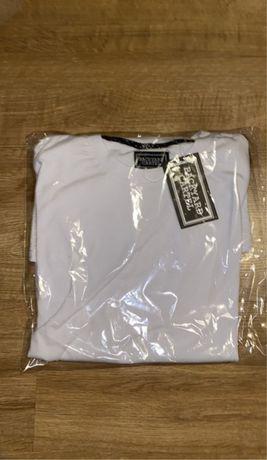 Nowa koszulka backyard cartel biała z zamkami
