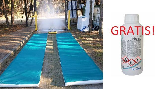Maty dezynfekcyjne przejazdowe 90x400x5 cm + GRATIS VIROCID 1l.