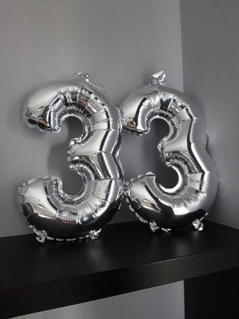 Balony cyfra 3 - 2 sztuki