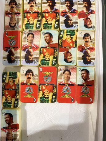 Lote de pecas de domino Benfica - jornal record