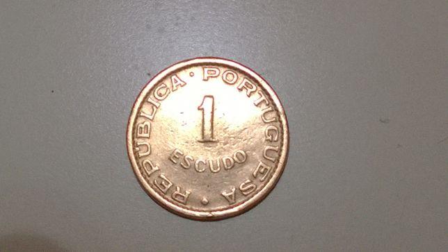 Portugal-Cabo Verde 1$00 de 1953, rara