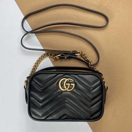 Сумка Гуччи женская Gucci GG Marmont кожаная