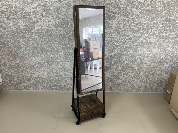 Стильное Практичное зеркало органайзер для украшений лофт Качество