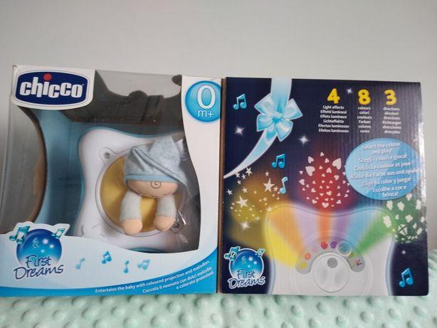 Chicco Rainbow Cube First Dreams 0+ - projektor, pozytywka, lampka