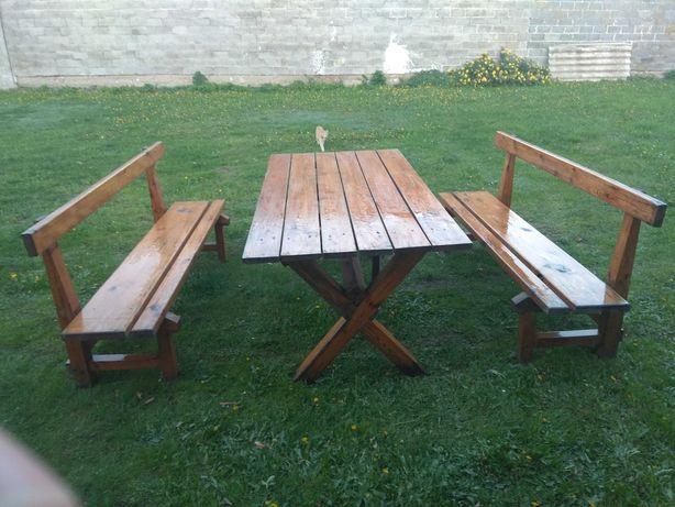 Meble  modrzewiowe ogrodowe drewniane