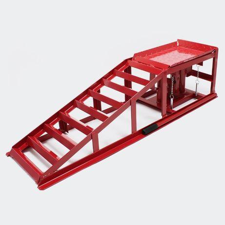 2x Altura hidráulica de elevação dos macacos 2000kg da rampa ajustável