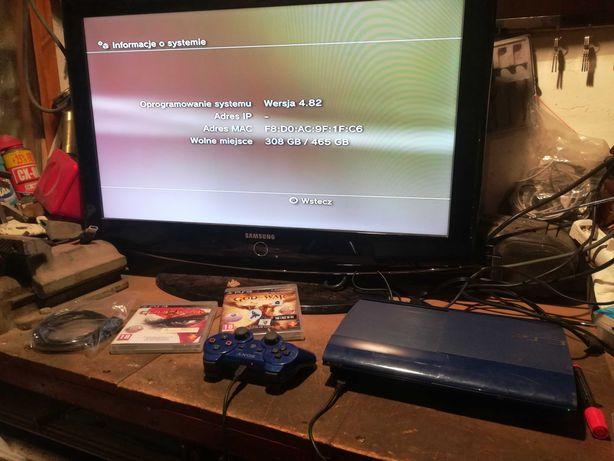 Konsola PlayStation 3 Super Slim NIEBIESKA 500Gb (Ps3) + wymianna
