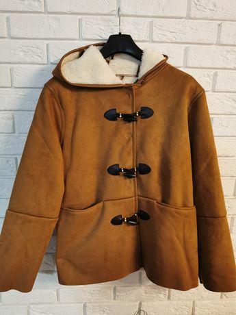 Nowy płaszcz kożuch z misiem kiabi 46 3xl