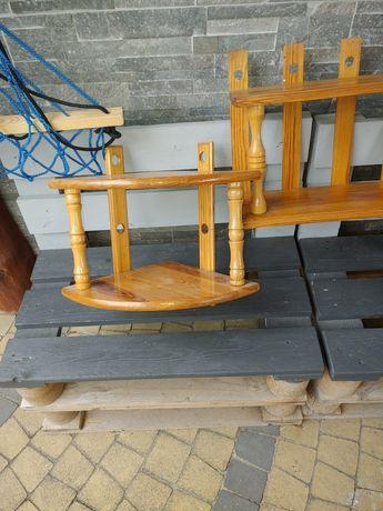 Półki drewniane sosnowe