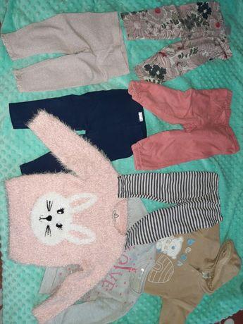 Ubranka dla dziewczynki 80 34szt TANIO