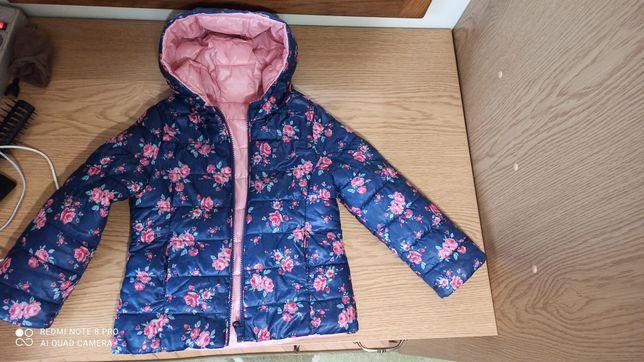 Куртка дитяча для дівчини двостороння на 3-4 роки