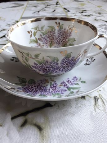 Чайная пара Сирень Дулево