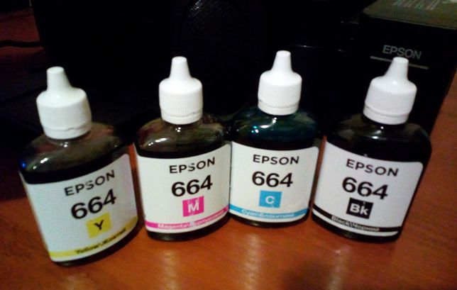 Краски чернила epson 664