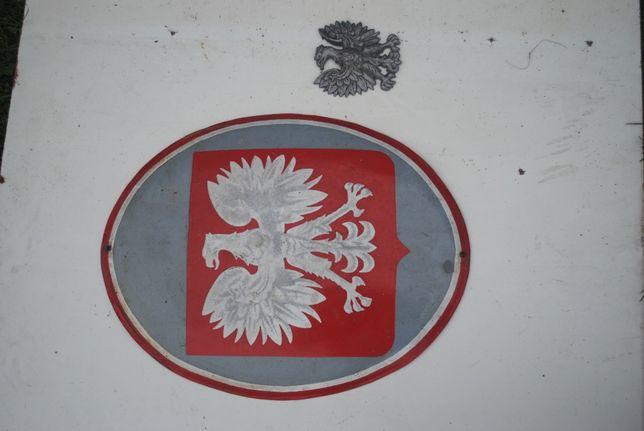 Stare Godło orzeł bez korony emalia PRL