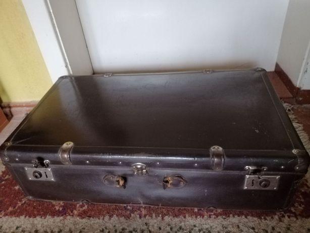 Walizki stare antyki kuferki skórzane