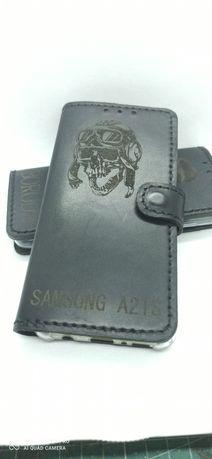 Skórzane etui do Samsung A21S, Samsung A12