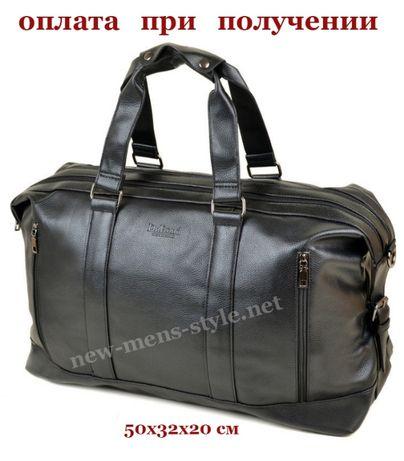 Мужская большая кожаная спортивная дорожная брутальная сумка Dr.Bond