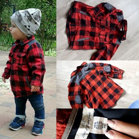 Утепленная рубашка для маальчика
