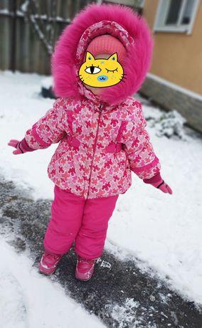 Зимний костюм комбинезон для девочки