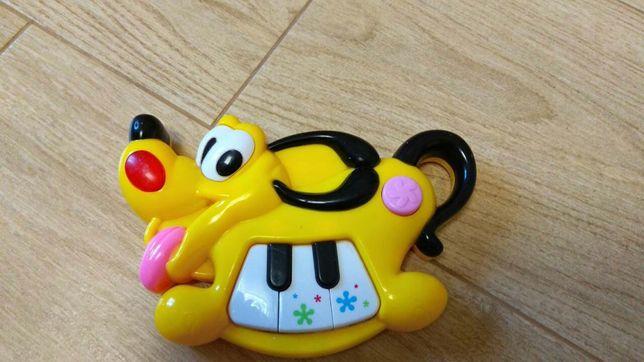 Музыкальное пианино, игрушка в коляску