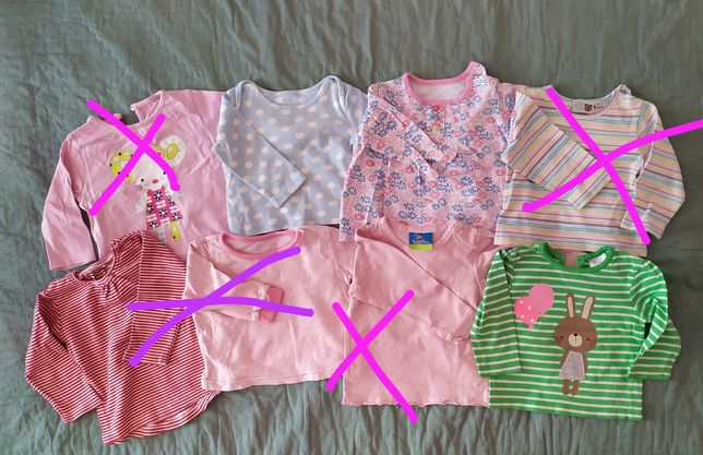 Детская кофта футболка на малыша 6-9 месяцев
