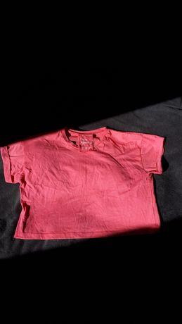 Różowy crop top
