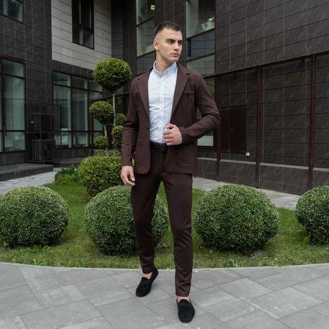 Мужской классический костюм пиджак брюки классичний чоловічий
