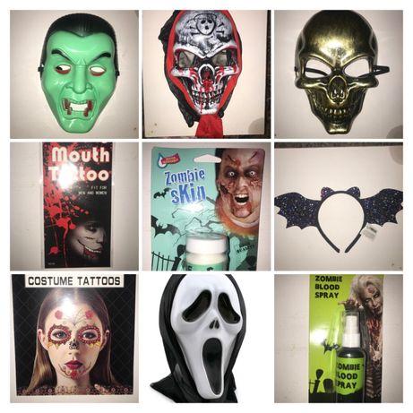 Хеллоун маска обруч зубы вампир шляпа обруч кожа зомби кровь тату