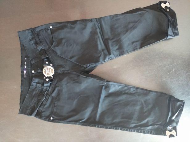Spodnie czarne rybaczki