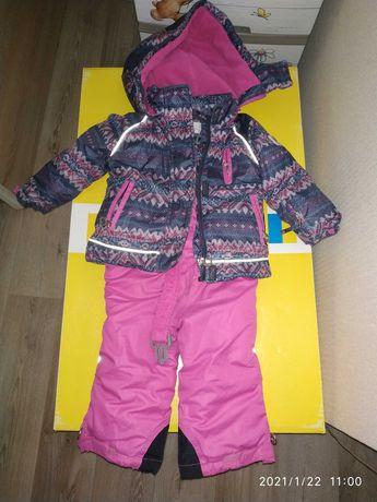 Зимний раздельный термо комбинезон + шапка/одежда