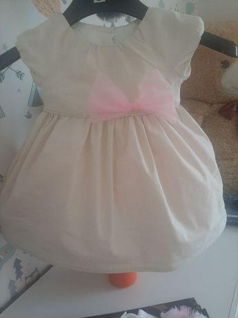 Sukienka rozmiar 62, buciki rozmiar 10, opaska