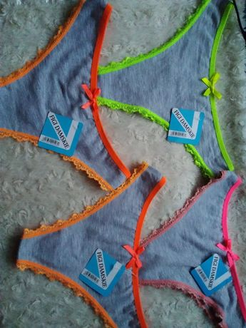 Figi damskie bawełniane komplet 4 szt