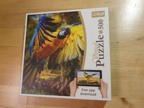 Puzzle Trefl 500 Virtual Z Aplikacją 3D Nowe!