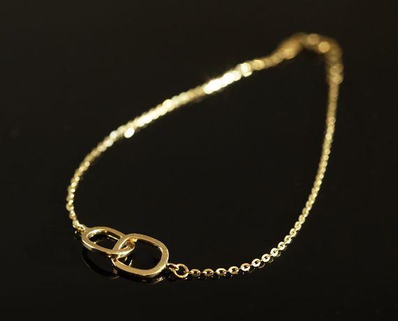 Złoto 585 - złota bransoletka Celebrytka