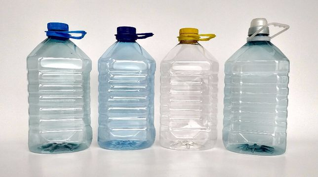 Пляшка 5л (PET), ПЕТ ТАРА, ПЭТ-бутылка, Каністра 5л