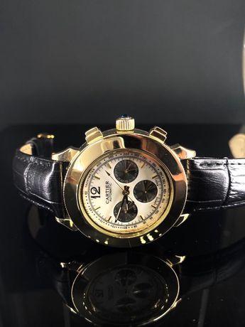 Залотые часы новые Cartier