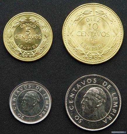 Набор монет 5, 10, 20, 50 сентаво 2014 Гондурас