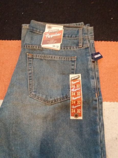 Jeansy old navy regular 34x32 nowe