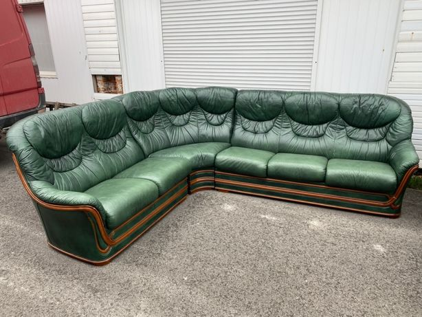 кутовий шкіряний диван