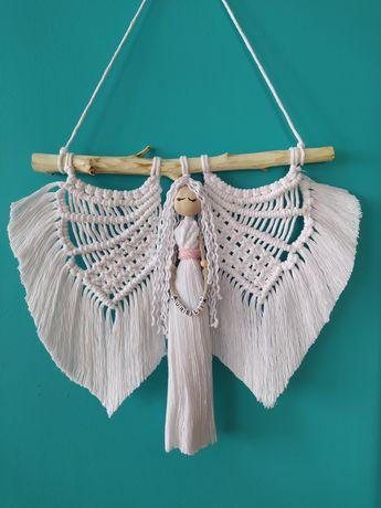 Anioł makrama, prezent/I komunia święta/chrzest